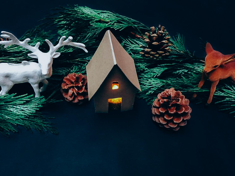 Kerst maak je zelf tafeldecoratie kerstboom we for Ballonnen versiering zelf maken